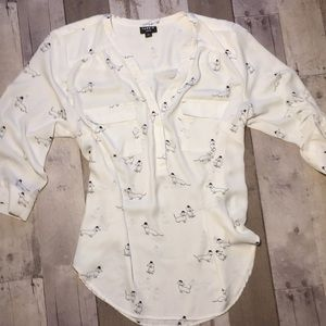 Torrid blouse with dogs